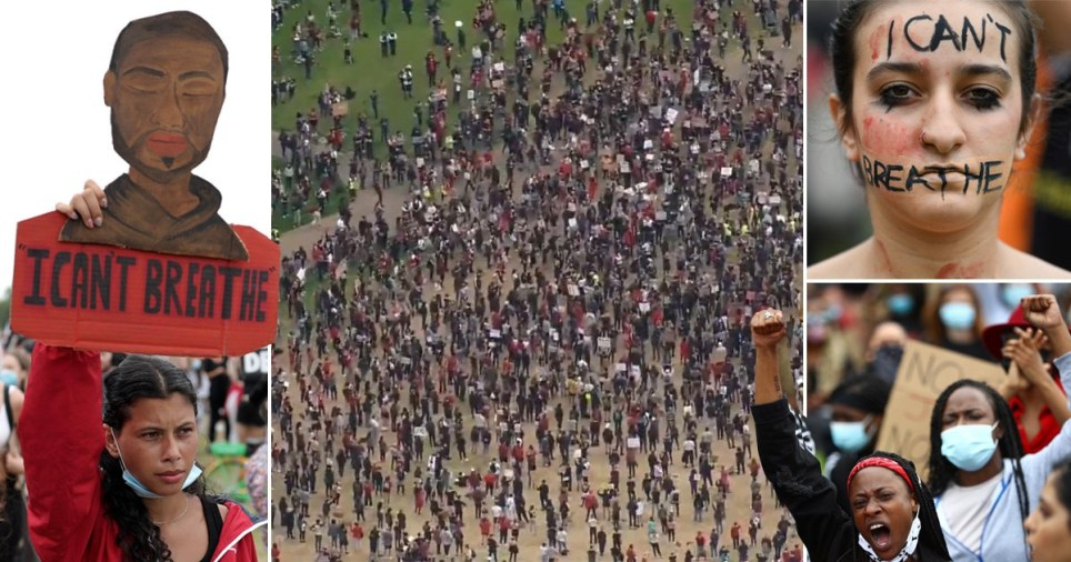 Thousands of people are protesting in Hyde Park today