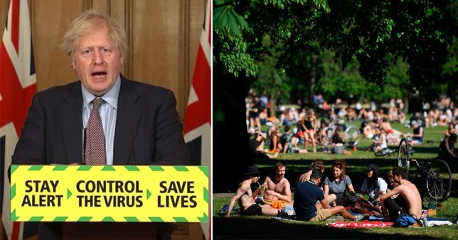 Don't take gatherings outdoors now sunny weather has gone, Boris urges public