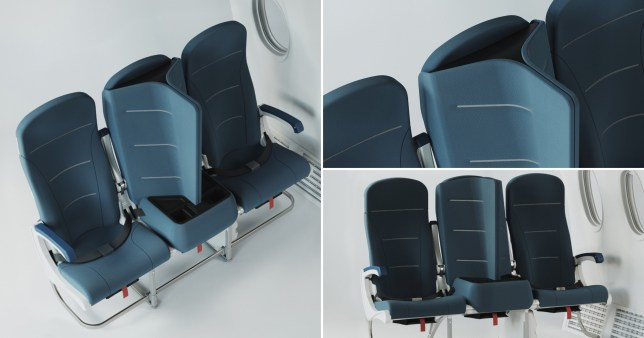 close up of the curved seats