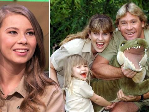 Bindi Irwin thanks her mum and dad, Terri and Steve Irwin, for teaching her unconditional love