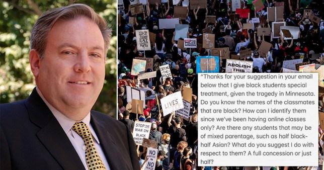 Gordon Klein, professeur à l'Université de Californie à Los Angeles (UCLA), a été suspendu pour avoir refusé de reporter les examens des étudiants noirs, `` à la lumière des récents traumatismes auxquels beaucoup ont été confrontés après la mort de George Floyd et les manifestations antiracistes.