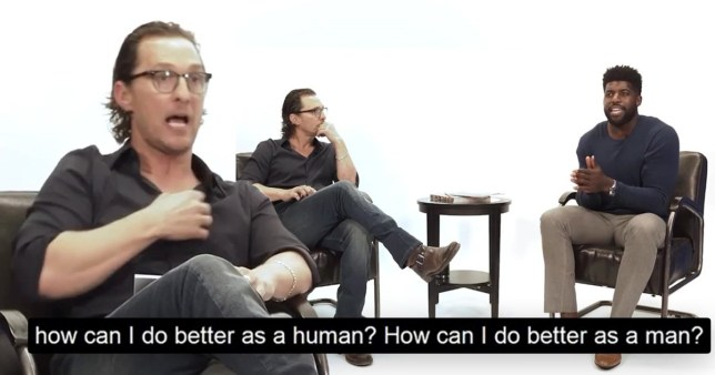 Matthew McConaughey uncomfortable conversations with a black man