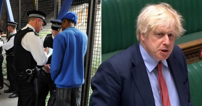 Boris Johnson defends stop and search