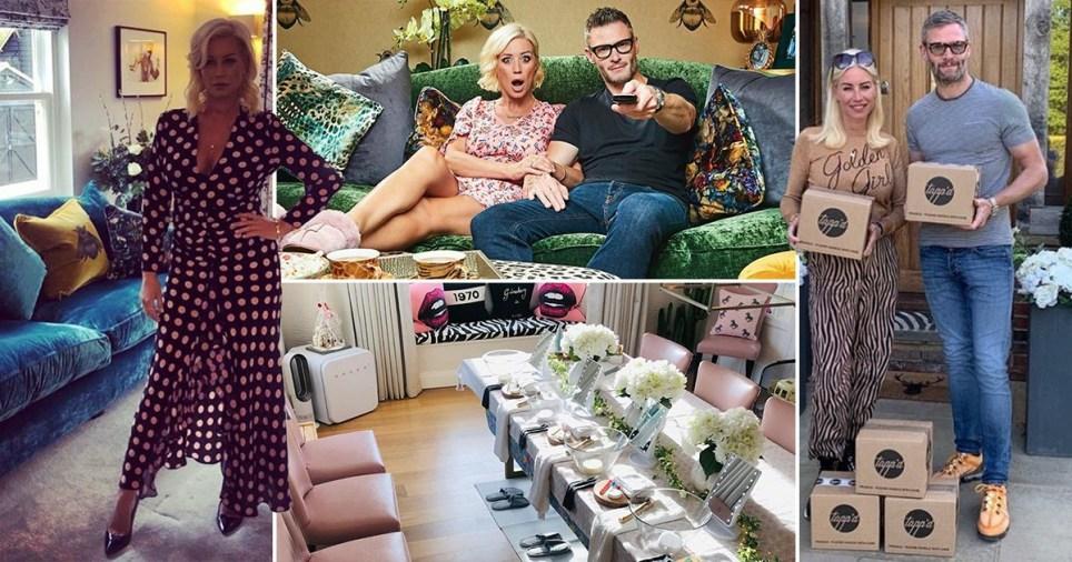 Denise Van Outen pictured around her Essex home with boyfriend Eddie Boxshall
