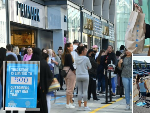 Huge queues outside Primark as some wait overnight to shop