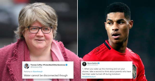 Theresa Coffrey gave an abrupt response to Marcus Rashford's tweets