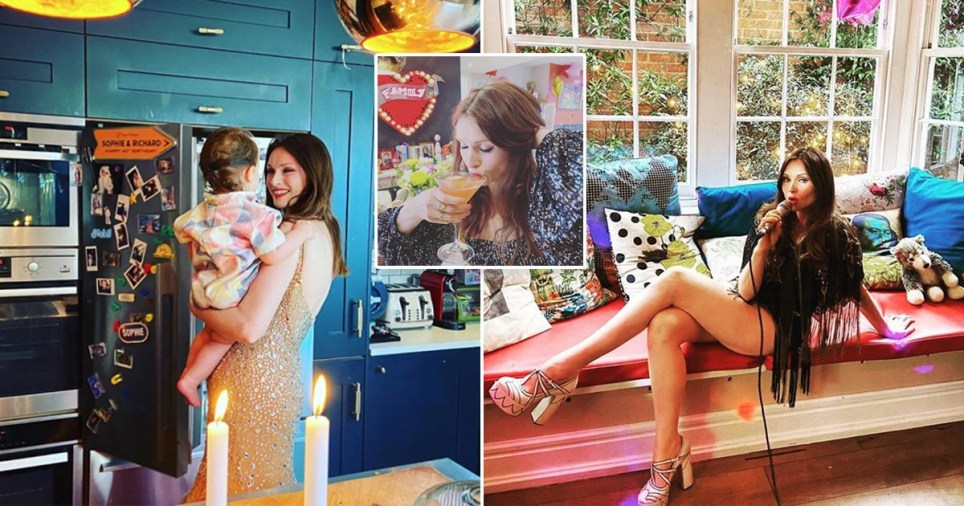 Sophie Ellis-Bextor pictured around her West London home