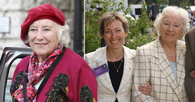 Dame Vera Lynn pictured separately alongside photo of her and daughter Virginia Lewis-Jones