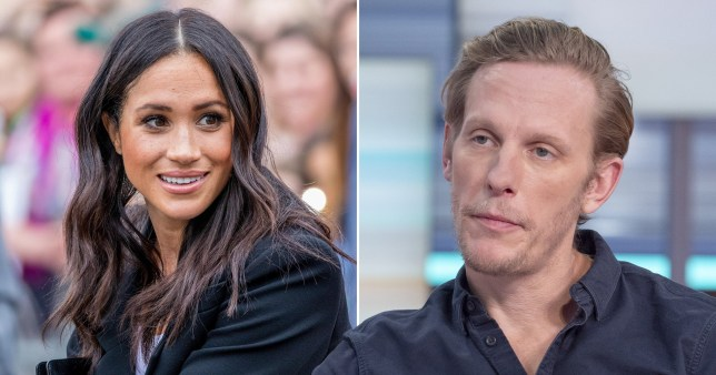 Meghan Markle and Laurence Fox