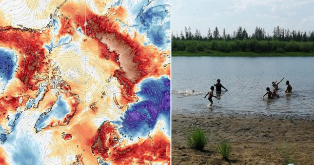 A record temperature of 38°C was recorded in Siberia in the Russian Arctic Circle