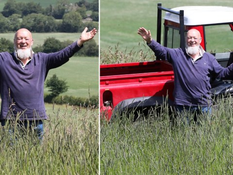 Michael Eavis is still smiling as he marks what would have been first day of Glastonbury on empty farm
