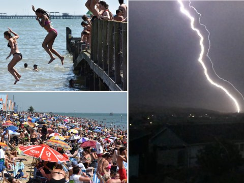 Thunder and lightning hits the UK after the hottest day of the year