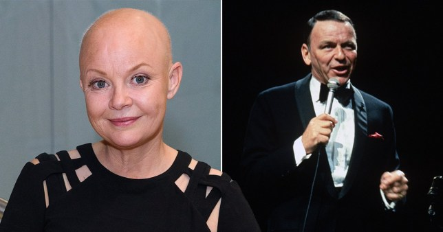 Gail Porter and Frank Sinatra