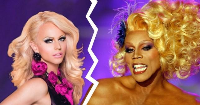 Courtney Act and RuPaul