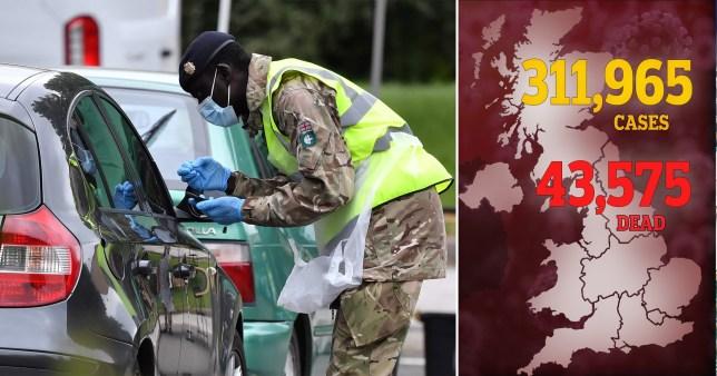 UK coronavirus death toll Monday June 29.