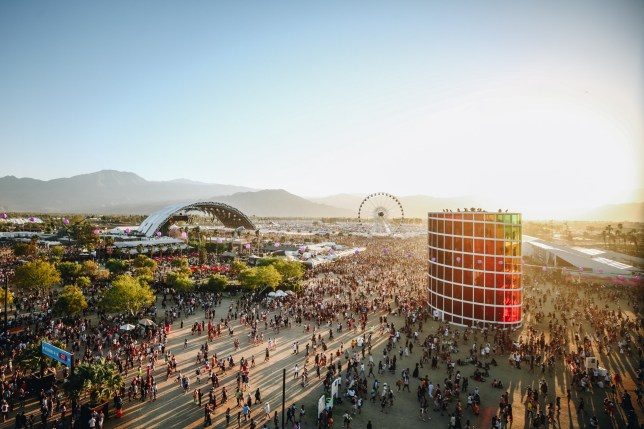 INDIO, CALIFORNIA - APRIL 21: (EDITORS NOTE: Image has been processed using digital filters.) Festivalgoers are seen during the 2019 Coachella Valley Music And Arts Festival on April 21, 2019 in Indio, California. (Photo by Rich Fury/Getty Images for Coachella)