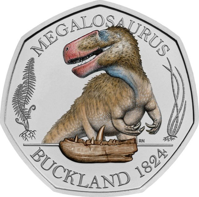 The Megalosaurus, the Iguanodon and the Hylaeosaurus get their own coins. (Credits: PA)