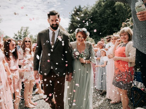 Couple have budget wedding with a picnic, food truck and camels for under £3,500