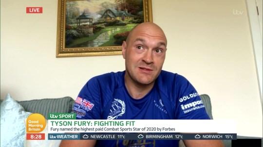 Tyson Fury on Good Morning Britain