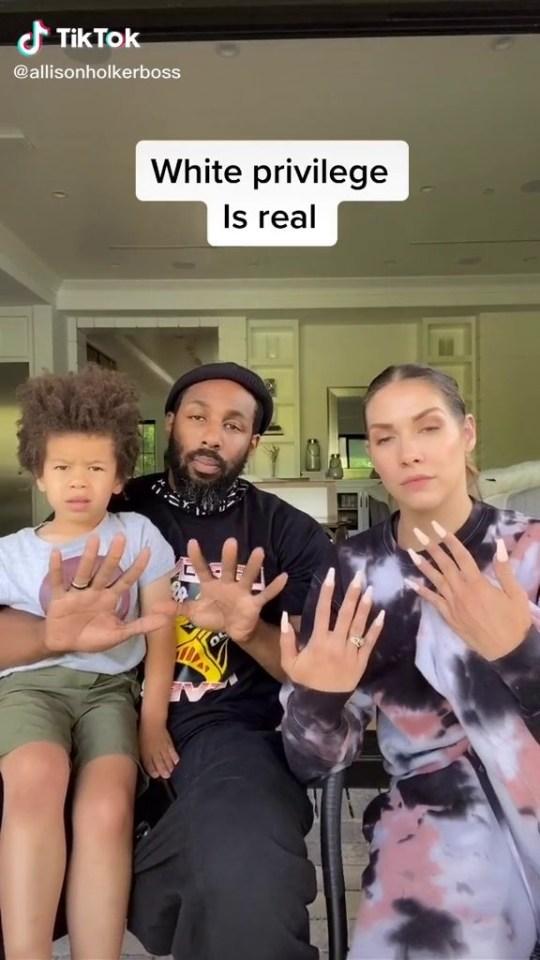 Stephen 'tWitch' Boss and wife Allison Holker highlight white privilege in viral TikTok video