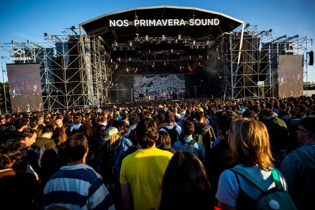Mandatory Credit: Photo by Diogo Baptista/SOPA Images/REX (10299042ab) A view of the main stage NOS Primavera Sound Festival, Porto, Portugal - 07 Jun 2019