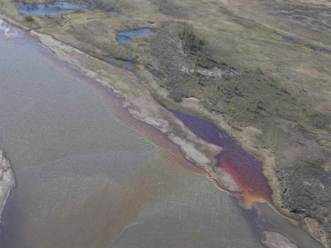 Arctic river runs red following devastating Russian fuel spill
