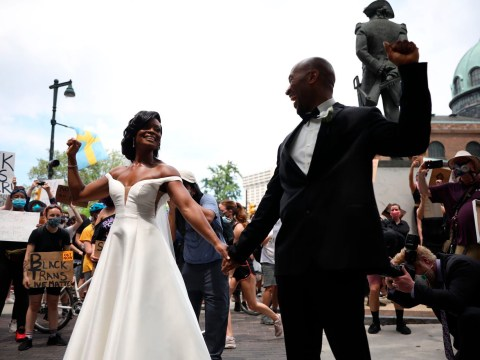 Beautiful Black couple get married during peaceful protests in Philadelphia