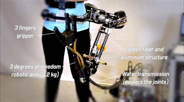 The arm has been developed to help humans with menial tasks (Universit de Sherbrooke)