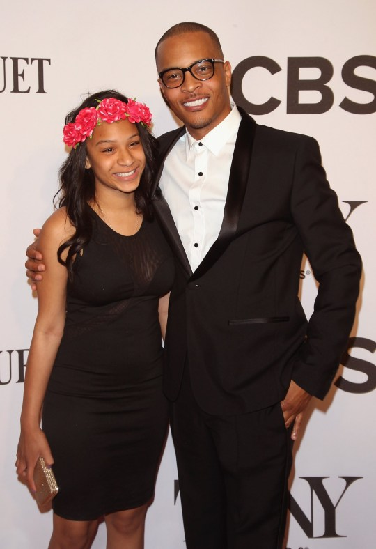 Deyjah Imani Harris and dad T.I. on the red carpet