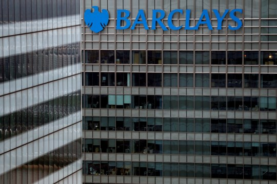 FILE PHOTO: A Barclays bank building is seen at Canary Wharf in London, Britain May 17, 2017. REUTERS/Stefan Wermuth/File Photo