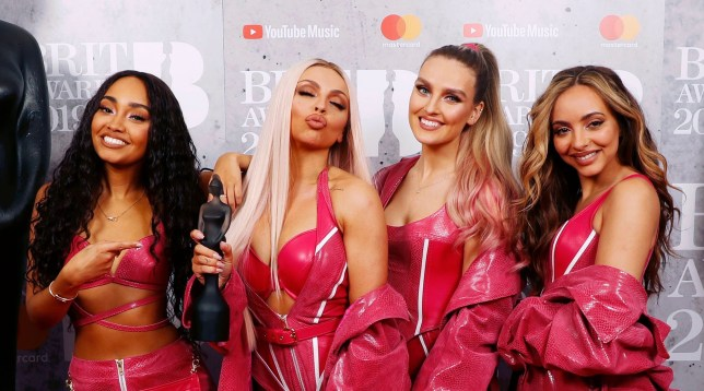 Mandatory Credit: Photo by JM Enternational/REX (10110851am) Little Mix - Jesy Nelson, Perrie Edwards, Jade Thirlwall and Leigh-Anne Pinnock 39th Brit Awards, Press Room, The O2 Arena, London, UK - 20 Feb 2019