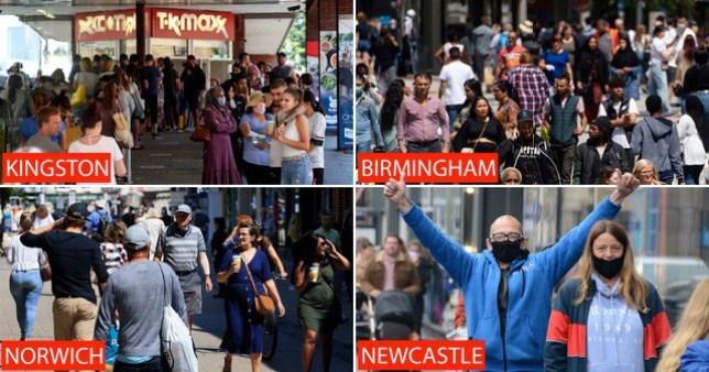 UK shops re-open