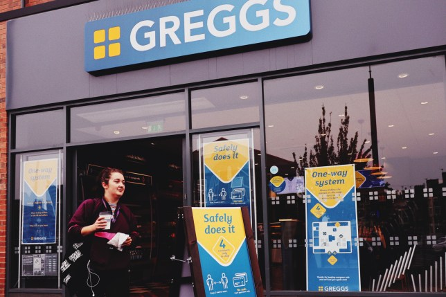 Undated handout photo issued by Greggs of their new-look stores, with floor markings, protective clothes for staff and screens at counters to protect against coronavirus spreading. Greggs has announced it plans to reopen around 800 stores to customers for takeaways from Thursday with a reduced menu to ensure social distancing in kitchens and workspaces. PA Photo. Issue date: Tuesday June 16, 2020. See PA story CITY Greggs. Photo credit should read: Greggs/PA Wire NOTE TO EDITORS: This handout photo may only be used in for editorial reporting purposes for the contemporaneous illustration of events, things or the people in the image or facts mentioned in the caption. Reuse of the picture may require further permission from the copyright holder.