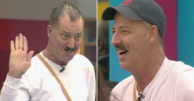 Michael Barrymore impersonating Hitler on Big Brother