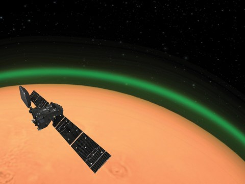 Weird green glow spotted around Mars' atmosphere