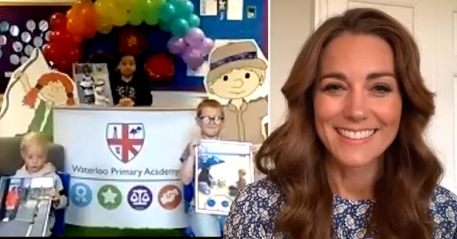 Kate says lockdown has been frustrating for all of us in virtual assembly with Waterloo Primary Academy pupils for the  Oak National Academy on June 17, 2020