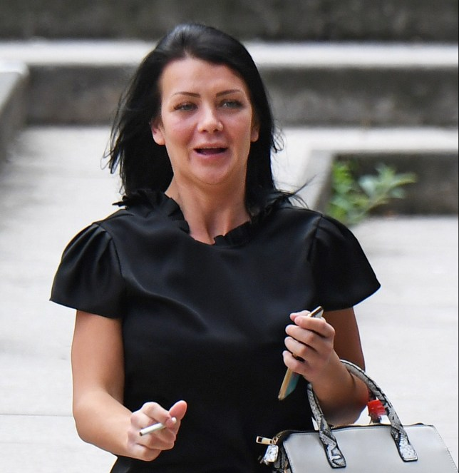 Samantha Pye leaves court on Wednesday