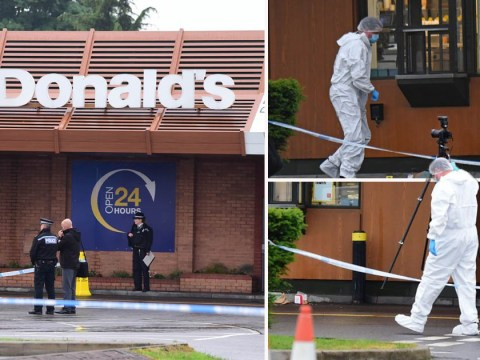 Armed police rush to McDonald's after gunman opened fire in drive-thru