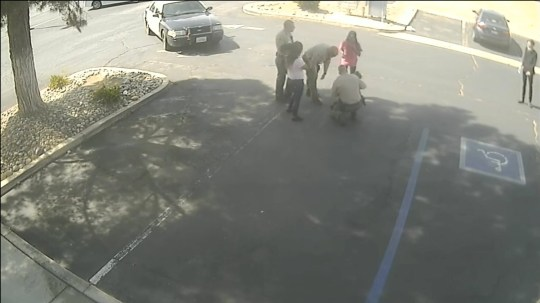 Shocking CCTV footage show the sheriff attempting to help the boy breathe