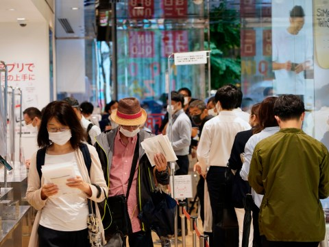 Uniqlo site crashes and Japan stores see overnight queues for AIRism quick-drying face masks