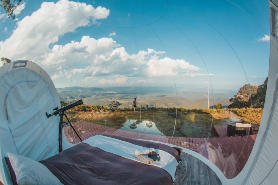 Australia bubbletent popup glamping experience