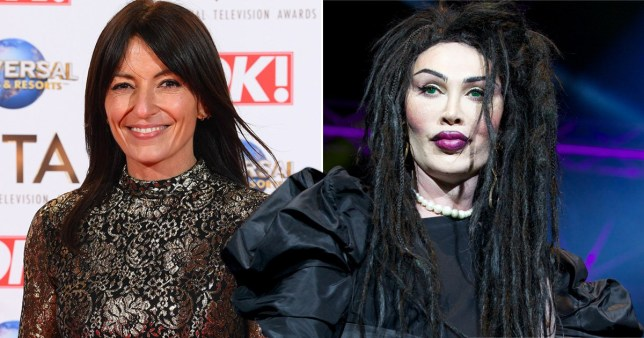 Davina McCall and Pete Burns