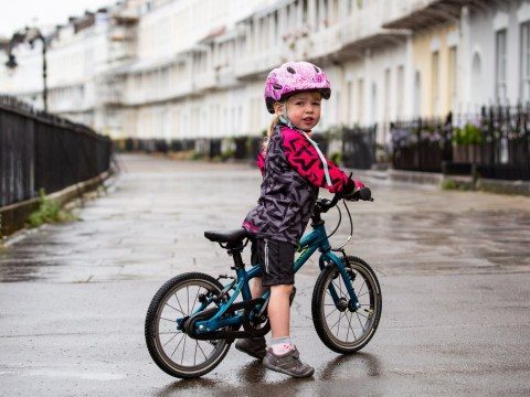 Girl, 2, got first bike at seven months and now cycles up to 11 miles every day