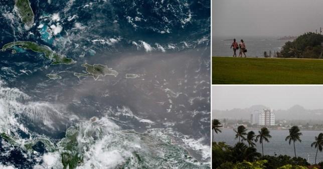 Saharan dust cloud reaches the caribbean Pics: AP/EPA/Getty