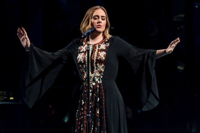 GLASTONBURY, ENGLAND - JUNE 25: Adele performs on The Pyramid Stage on day 2 of the Glastonbury Festival at Worthy Farm, Pilton on June 25, 2016 in Glastonbury, England. Now its 46th year the festival is one largest music festivals in the world and this year features headline acts Muse, Adele and Coldplay. The Festival, which Michael Eavis started in 1970 when several hundred hippies paid just ????1, now attracts more than 175,000 people. (Photo by Ian Gavan/Getty Images)