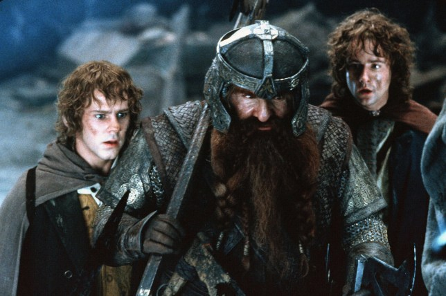 Dominic Monaghan, John Rhys-Davies, Billy Boyd The Lord Of The Rings - The Fellowship Of The Ring - 2001
