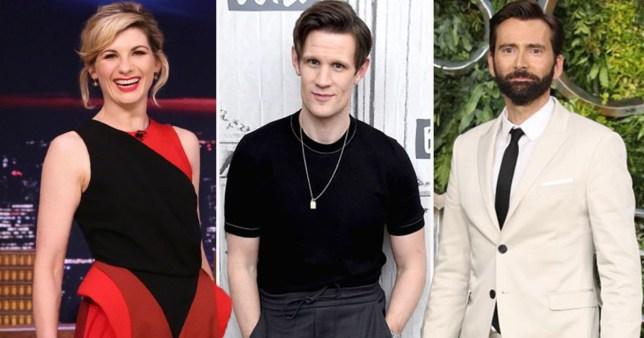 Doctor Who's David Tennant, Jodie Whittaker and Matt Smith