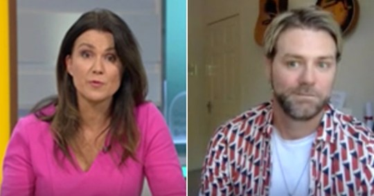 Susanna Reid and Brian McFadden during a virtual interview on Good Morning Britain