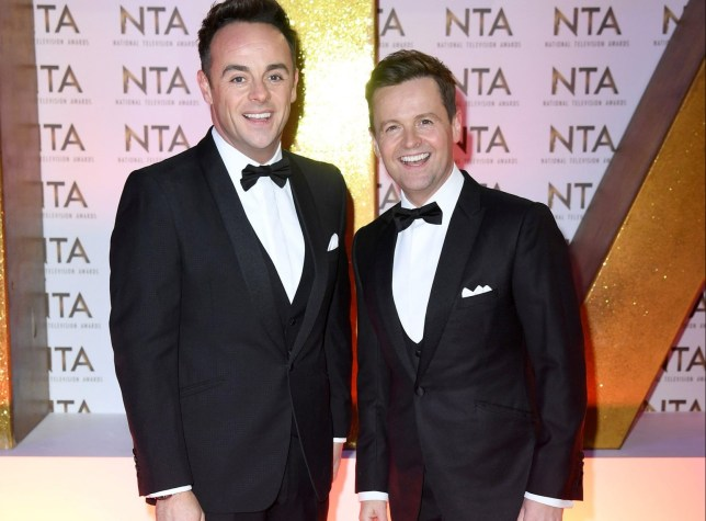 Mandatory Credit: Photo by Anthony Harvey/REX (10537865dn) Anthony McPartlin and Declan Donnelly 25th National Television Awards, Arrivals, O2, London, UK - 28 Jan 2020