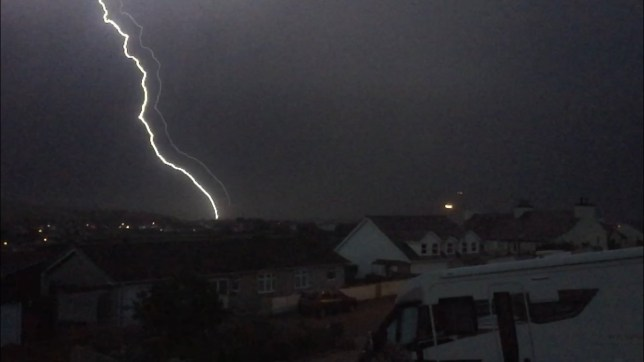 Thunder and lightning across UK after hottest day
